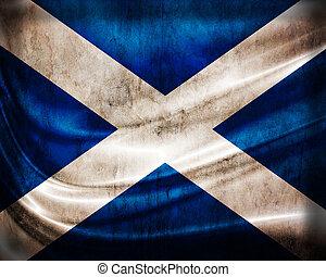 grunge, bandera, escocia