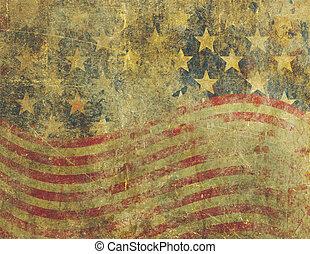 grunge, bandera estadounidense, diseño, severly,...
