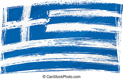 grunge, bandera grecia