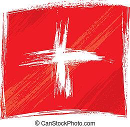 grunge, bandera suiza
