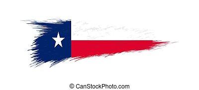 grunge, bandiera, ci, stato, brush., texas