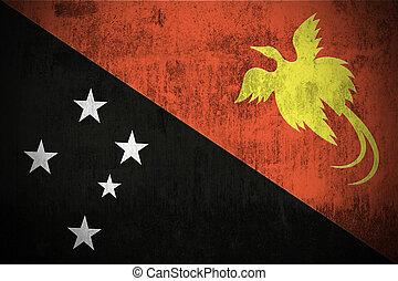 grunge, bandiera, di, papua nuova guinea