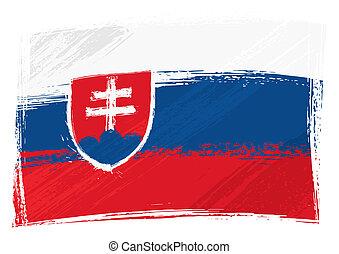 grunge, bandiera, slovacchia