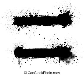 grunge, baner, svart