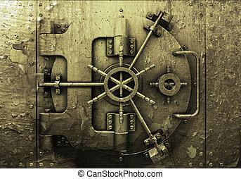 Grunge bank vault - Grunge style bank vault background
