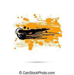 grunge, banner., abstract, illustratie, vector, artistiek
