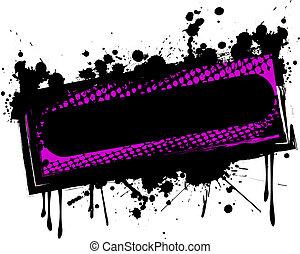 grunge, banner