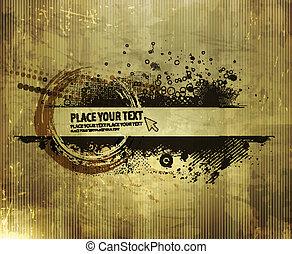 grunge banner design - abstract grunge banner design element...