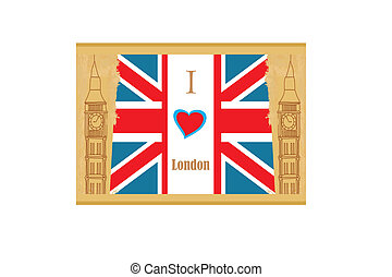 Grunge banner - i love London