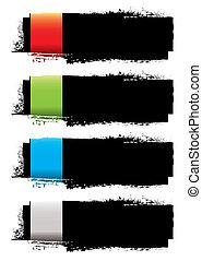 Grunge banner strip
