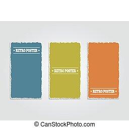 Grunge banner template. Vector illustration