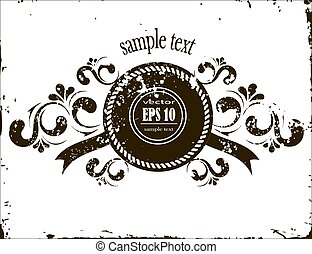 grunge banner with a beautiful floral pattern