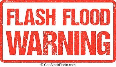 grunge, bannière, affligé, flash, texture, signe, caoutchouc, inondation, avertissement, avertissement, rouges
