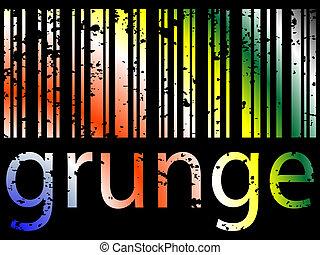 grunge bar code