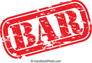 Grunge bar rubber stamp
