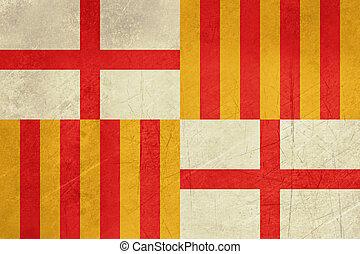 Grunge Barcelona City Flag