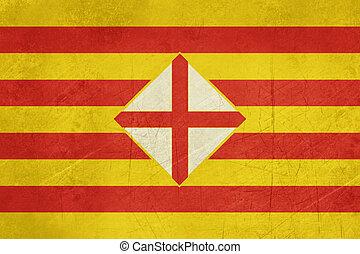 Grunge Barcelona province flag