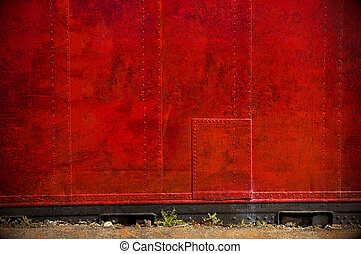 abstract red metal barrier with grunge layer
