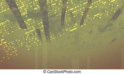 Grunge Bars Paint Splatter Looping Animated Background