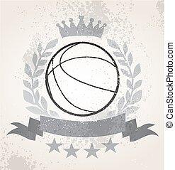Grunge Basketball laurel weath