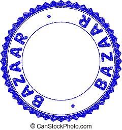 Grunge BAZAAR Textured Round Rosette Stamp Seal