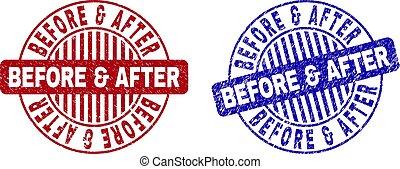 Grunge BEFORE & AFTER Textured Round Stamp Seals - Grunge...