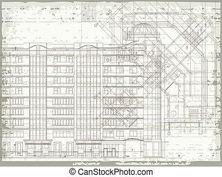 Grunge beige architectural texture - Grunge horizontal...
