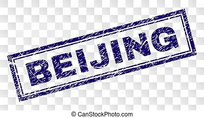 Grunge BEIJING Rectangle Stamp