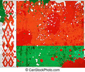 Grunge Belarus flag with stains