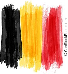 Grunge Belgium flag