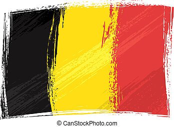 Grunge Belgium flag - Belgium national flag created in...
