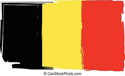 Grunge Belgium flag or banner