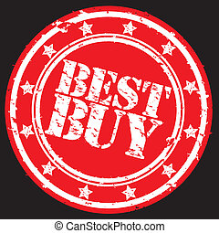 Grunge best buy rubber stamp, ve