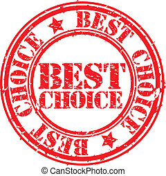Grunge best choice rubber stamp, ve