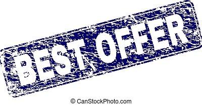 Grunge BEST OFFER Framed Rounded Rectangle Stamp