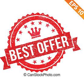 Grunge best offer rubber stamp  - Vector illustration - EPS10