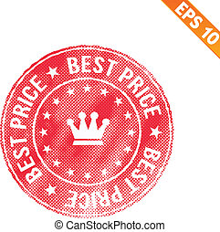 Grunge best price guarantee rubber stamp  - Vector illustration - EPS10