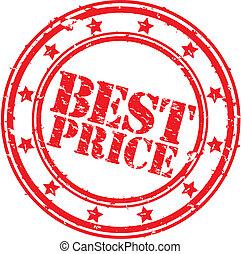 Grunge best price rubber stamp, vector