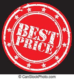Grunge best price rubber stamp, vec