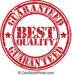 Grunge best quality guaranteed rubber stamp, vector illustration