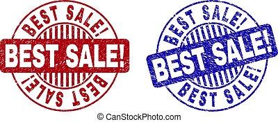 Grunge BEST SALE! Scratched Round Stamp Seals
