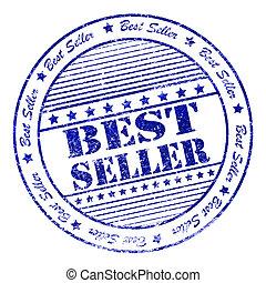 Grunge best seller rubber stamp