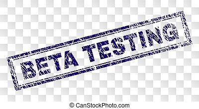 Grunge BETA TESTING Rectangle Stamp