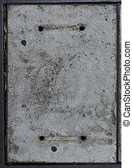 grunge, beton, cement, ruige , muur, gedetailleerd, textuur,...