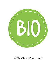 Grunge bio 100 percent natural rubber stamp, vector illustration