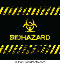 Grunge biohazard illustration