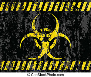 grunge biohazard sign background. Vector illustrator.