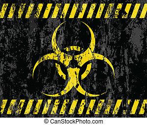 grunge biohazard sign background