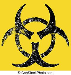 Grunge biohazard sign - a grunge destroyed biohazard sign
