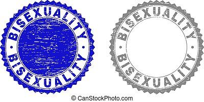 Grunge BISEXUALITY Textured Stamp Seals